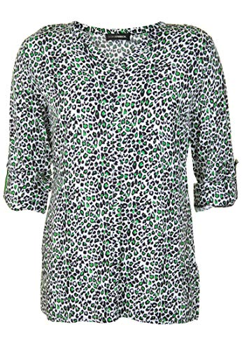 Doris Streich Damen Bluse mit Krempelärmeln Schlitze