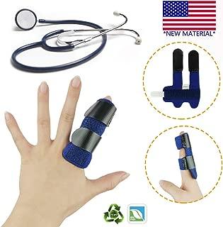 Finger Splint, Trigger Finger, Mallet Finger Splints, Finger Support Brace, Finger Immobilizer, Adjustable with Built-in Aluminium Support for Finger Joint Pain, Finger Arthritis, Fits Any Finger.