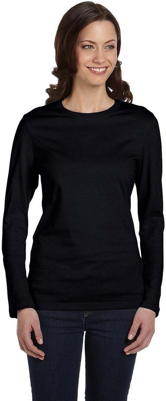 Bella + Canvas womens 4.2 oz. Long-Sleeve Crew Neck Jersey T-Shirt (B6500)