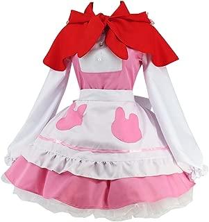 Women's Anime Cosplay Lolita Apron Dress with Cloak Stocking