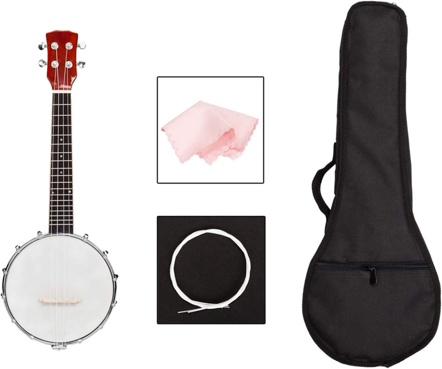 Banjo; Exquisite Ranking TOP9 WoodMetal 4-String Ins Banjos Musical Stringed Inventory cleanup selling sale