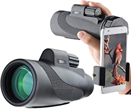 Gosky Titan 12X50 High Power Prism Monocular and Quick Smartphone Holder –..