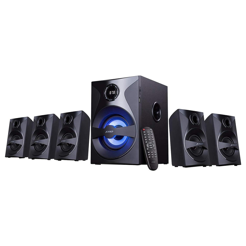 F&D F3800X 80W 5.1 Bluetooth Multimedia Speaker with Multi Color LED - Black