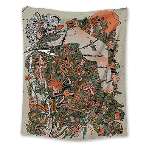 ZDDBD Cintas Tapiz para Colgar en la Pared Sala de Estar Dormitorio M/130X150cm(51'X59')