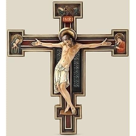 Roman Joseph Studio 10 25 Inch Tall Florentine Crucifix Home Kitchen