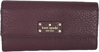 Kate Spade Bay Street Sandra Leather Clutch Wallet, Mulled Wine