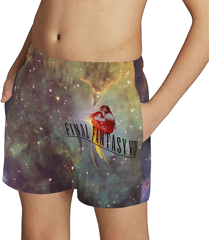 Final Fantasy VIII Video Game Boys Swim Trunks Drawstring Beach Shorts Swimwear Boardshort with Pockets