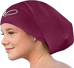 Long Hair Swim Cap - Swimming Caps for Women Men - Extra Large Swim Caps - Waterproof Silicone Swim Cap - Dreadlocks Braids Afro Hair Extensions Weaves
