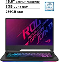ASUS 2020 ROG Strix 15.6 Inch FHD Gaming Laptop (9th Gen Intel Quad-core i5-9300H up to 4.1 GHz, 8GB RAM, 256GB SSD, NVIDIA GeForce GTX 1660 Ti, RGB Keyboard, Bluetooth, WiFi, HDMI, Windows 10)