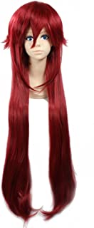 Weeck Anime Long Red Black Butler Grell Sutcliff Costume Cosplay Wig