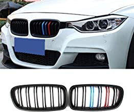 Fit 2012-2018 BMW 3 Series F30 F31 F35 Grille High Gloss BLACK BLUE RED Cool Sport Style Replacement Conversion Grill M Color Design Sturdy ABS Easy To Install