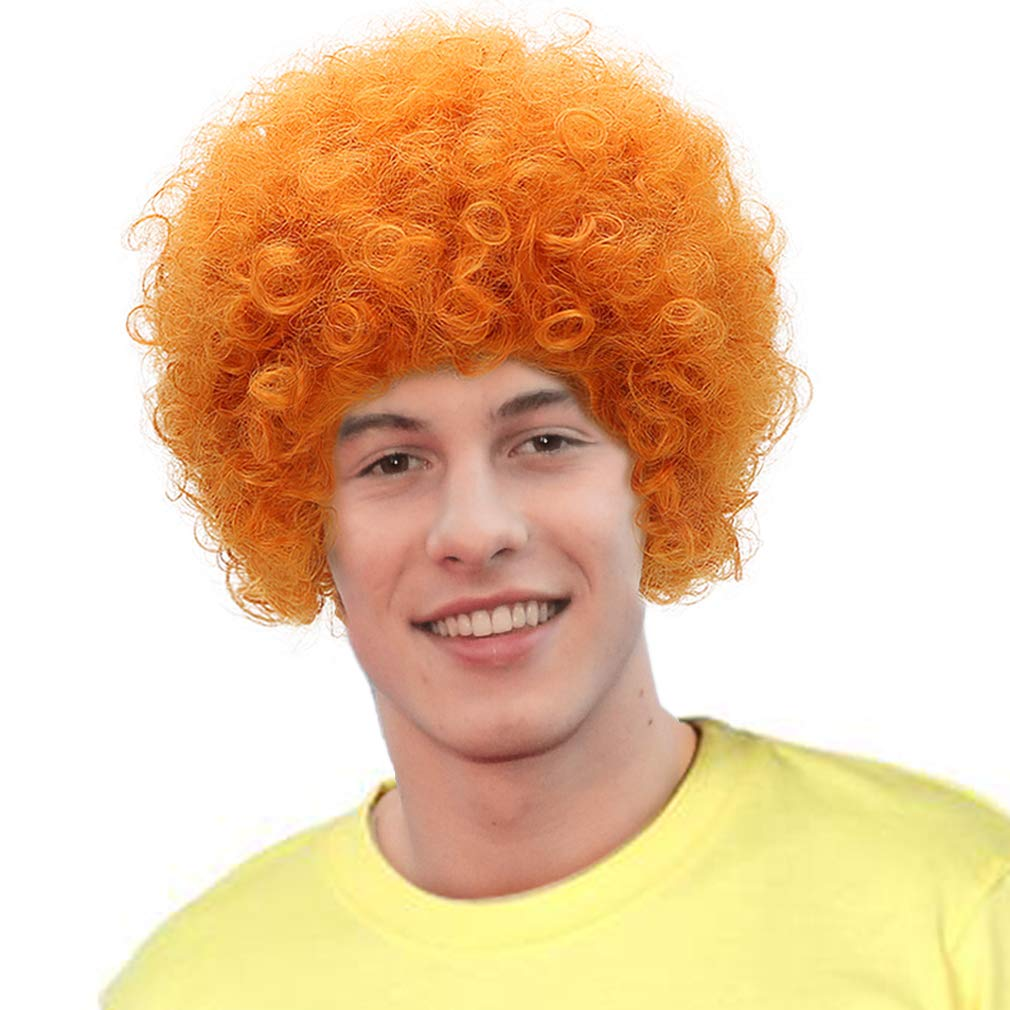 Orange Curly Fresno Mall Anime Cosplay Wig-Man Hair National products Wigs Role Synthetic Play