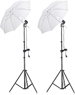 Neewer 400W 5500K Photo Studio Continuous Lighting Umbrellas Kit for Portrait Photography,Studio and Video Shooting