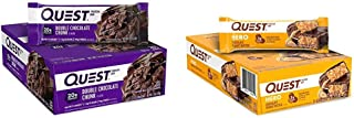 Quest Nutrition Double Chocolate Chunk Protein Bar, High Protein, Low Carb, Gluten Free, Keto Friendly, 12 Count & Chocola...