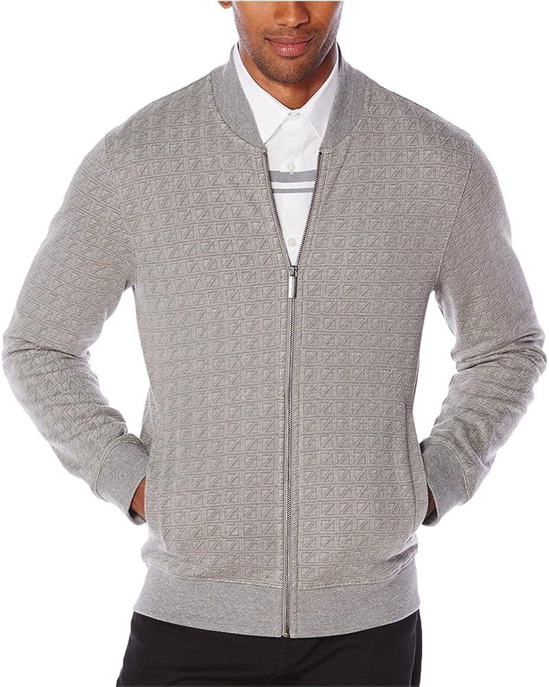 Perry Ellis Men's Jacquard Zip-Front Sweater Jacket