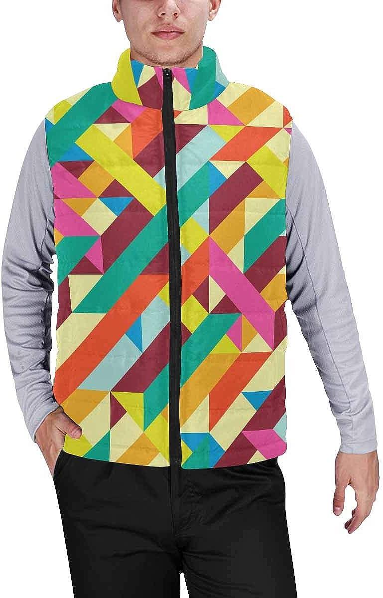 InterestPrint Warm Outdoor Sleeveless Stand Collar Vest for Men Galaxy Space Cat