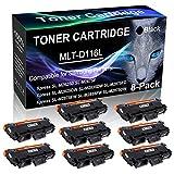 8-Pack Black Compatible Laser Printer Cartridge (High Yield) Replacement for Samsung MLT-D116L MLTD116L D116L Imaging Cartridge use for Samsung Xpress SL-M2885FW SL-M2875DW Printer