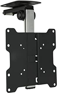 Mount-It! Flip Down TV and Monitor Mount   Ceiling Kitchen Overhead and Under Cabinet Mount   Fits Flat Screens 13 15 17 1...