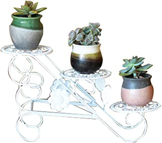 Flower Pot Stand Display European-style Floor-standing Wrought Iron Multi-layer Flower Stand, Mini Flower Stand, Living Ro...