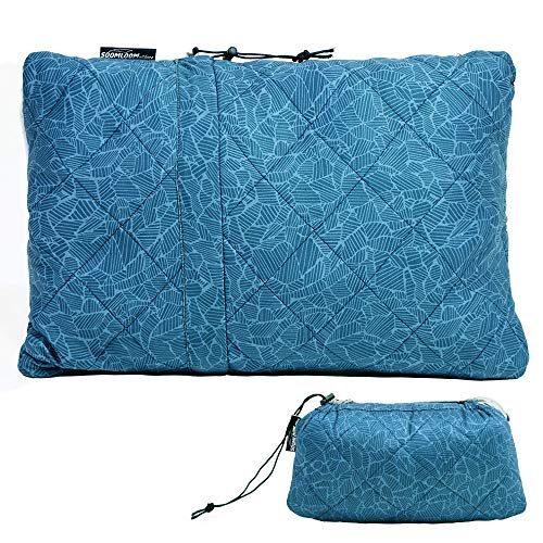 Soomloom キャンプ枕ピロー 携帯枕 「接触冷感」素材 超軽量・コンパクト ブル アウトドア/キャンプ/旅/車中泊/オフィス用