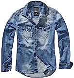 Brandit Riley Denimshirt Chemise en Jean, Blau (Denim Blue 62), XX-Large Homme