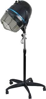 Secador de pelo profesional de 1300W ajustable con capucha, de pie, base giratoria, con ruedas, para salón.