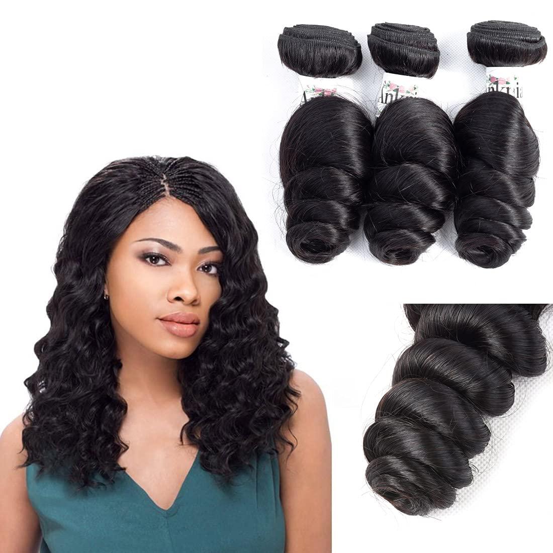 Anknia Brazilian Virgin In a Super popular specialty store popularity Hair Loose Wave 3 Deals Good Bundles Che