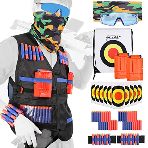 KASCIMU Tactical Vest Kit for Nerf Guns N-Strike Elite Series - Best Nerf Gun Accessories