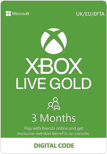 Xbox Live Gold – 3 - Month Membership [Digital Download Code]