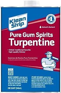 Klean-Strip Green QGT69 Turpentine Gum Spirit, 1-Quart