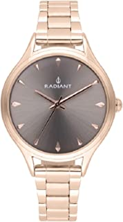 Radiant amira Womens Analog Quartz Watch with Stainless Steel Gold Plated bracelet RA486201