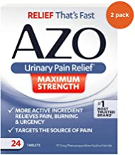 Azo Maximum Strength Urinary Pain Relief Tablets 24 ea (pack of 2)