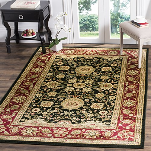 Safavieh Lyndhurst Collection LNH212G Traditional Oriental Black and Red Area Rug (6' x 9')