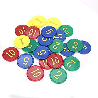 160pcs / Box Educational Figure Chips, Family Activity Game Plastic Stable Coins Rewards Tool with for Counting, Sorting, ...