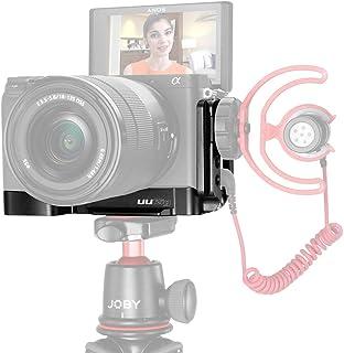 UURIG R006 - Soporte de extensión para cámara Sony A6400 (liberación rápida Vertical/Horizontal Adaptador para Zapata fría Conector para micrófono/luz de vídeo 1/4)
