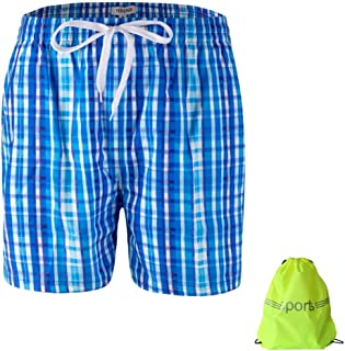 NIRINE Men's Breathable and Lightweight Plus Size Board Shorts, Swim Shorts, Swim Trunks, Swimwear, Bathing Suits with Pockets Mesh Lining for Swimming Beach Pool Surfing Running
