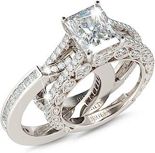 Jeulia Rings For Women Wedding Sets