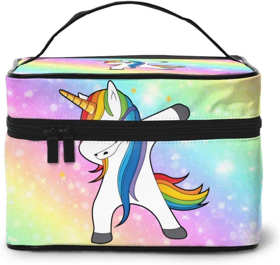 Funny Dabbing Unicorn Ranking TOP13 We OFFer at cheap prices Rainbow Makeup Box Case Train Organ