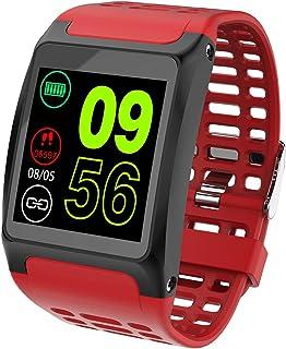 JessFash Reloj Inteligente Actividad Rastreador de Ejercicios Calorías Reloj Contador de Pasos Podómetro Impermeable Cardio Salud Ejercicio Reloj Inteligente Ritmo cardíaco Monitor de sueño
