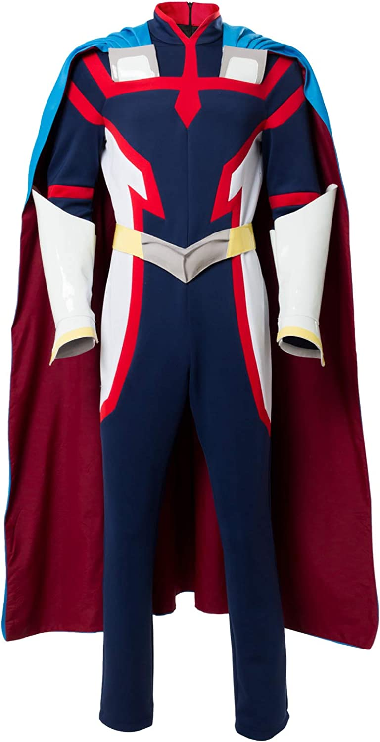 My Hero Academia Two Heroes Cosplay Young All Might Costume Jumpsuit Cape Suit