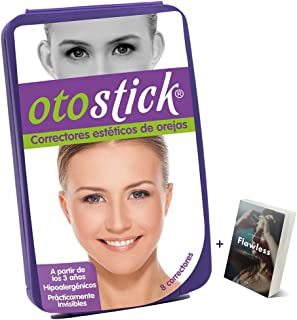 Otostick Ear Corrector New Edition Spanish Language Box - Corrector De Orejas - Discreet Safe & Transparent Tape Ear Corre...