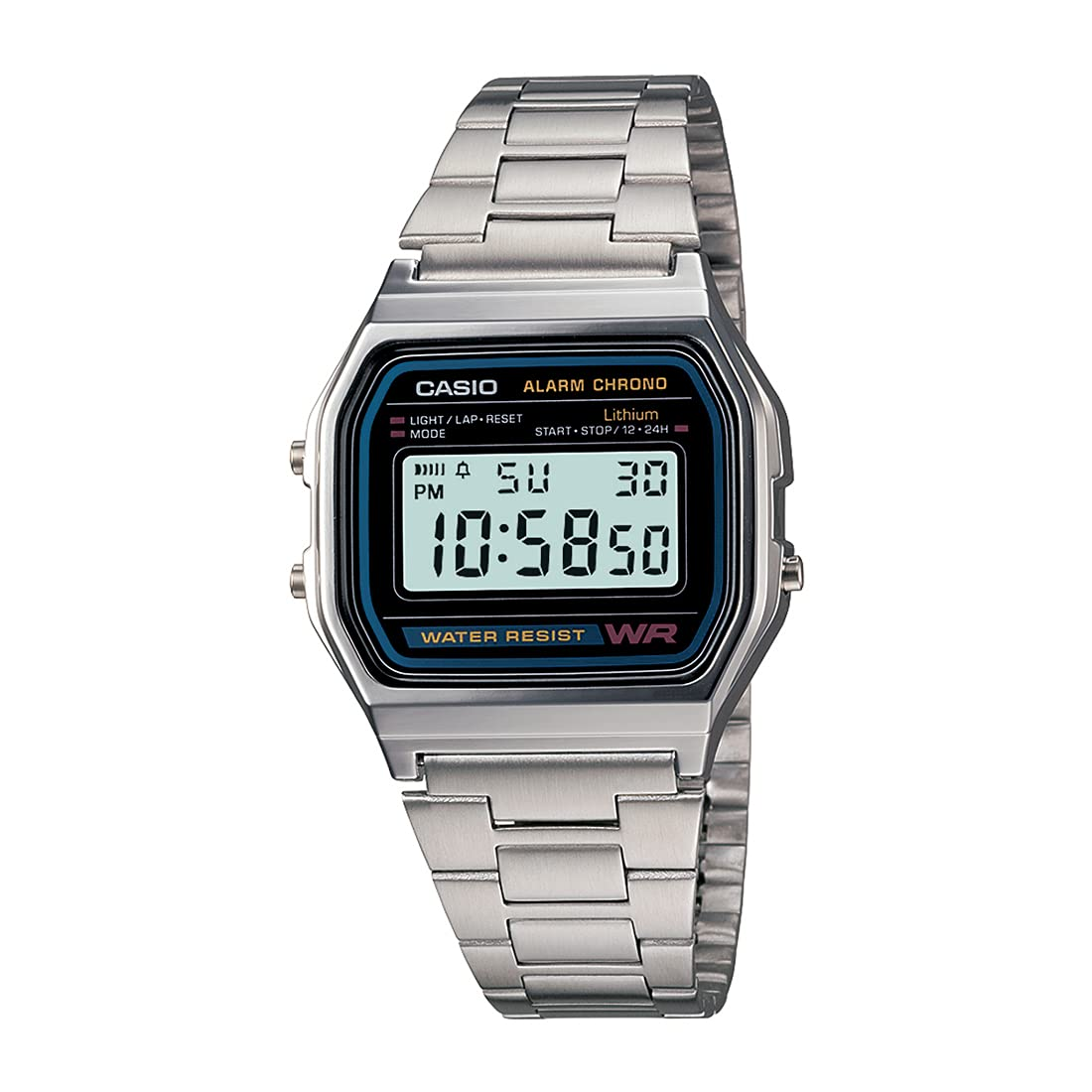 Casio Vintage Series Digital Black Dial Unisex Watch   A 158WA 1Q D011  Wrist Watches