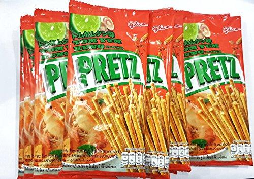 Glico Pretz Bread Stick Tom Yum Kung Flavour 14.5g 12 Packs