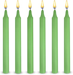 Exquizite 24 Green Colored Spell Candles, Unscented 5