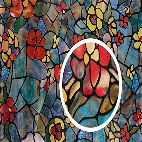 d-c-fix 346-0431 Self-Adhesive Privacy Glass Window Film, Venetian Garden, 17' x 78' Roll,
