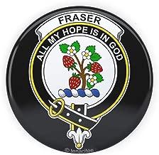 Tenacitee Scottish Clan Crest Badge Fraser Pinback Button, 2.25