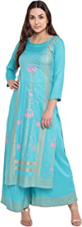 PINKY PARI Women's Rayon Readymade Salwar Suit