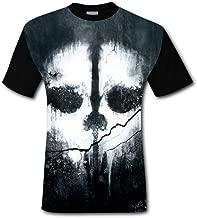 Yangjio Mens Fashion Call_Duty Ghost 3D Printed Short Sleeve T-Shirts