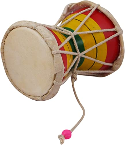 Nawaab 4 Inch Damru Hand Percussion Handmade Indian Musical Instrument