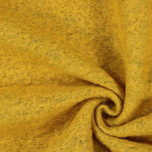 Fabulous Fabrics Kochwolle Klassik gelb — Meterware ab 0,5m — Oeko-Tex Standard 100 Produktklasse I — zum Nähen von Herbst-/Winterkleidung, Mäntel und Jacken